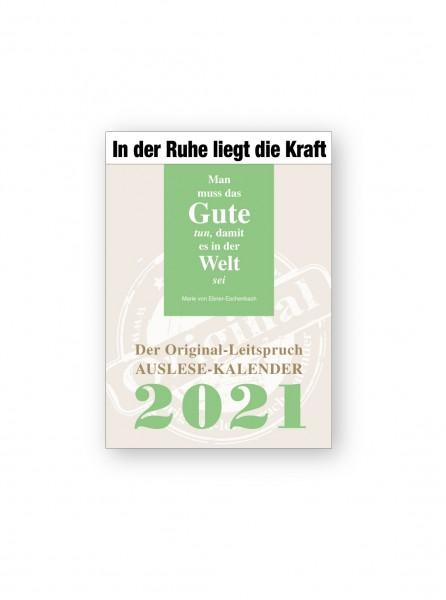 Original-Leitspruch-Auslese-Kalender 2021