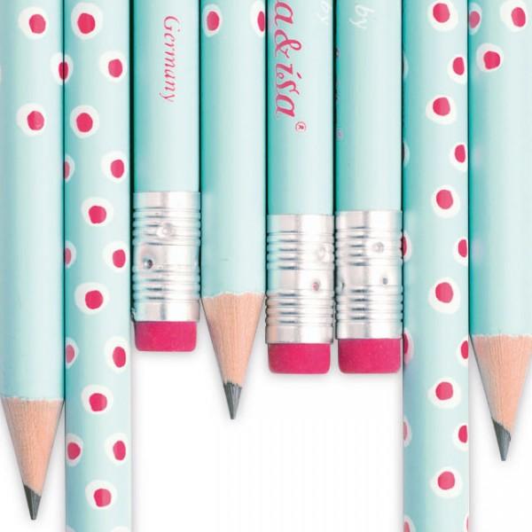 Bleistift Tupfer türkis/pink