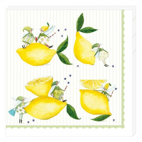 Servietten Zitronen