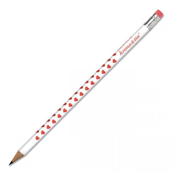 Bleistift Herzen Rot