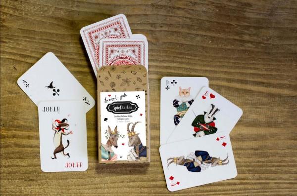"""Spielkartenset klassisch """"tierisch gut"""""""