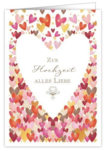 XL Karte Zur Hochzeit Alles Liebe