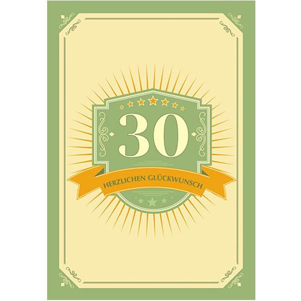 Geburtstagskarte 30