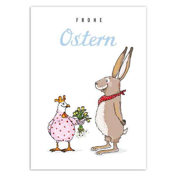 Postkarte Osterstrauss