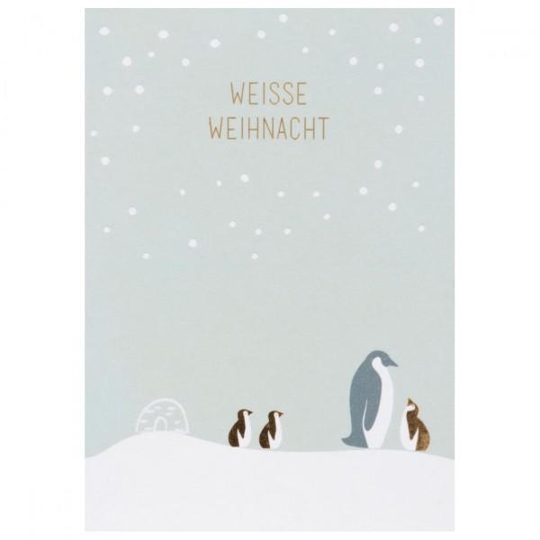 Weihnachts Tierpostkarte