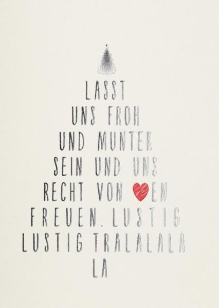 Weihnachts Postkarte