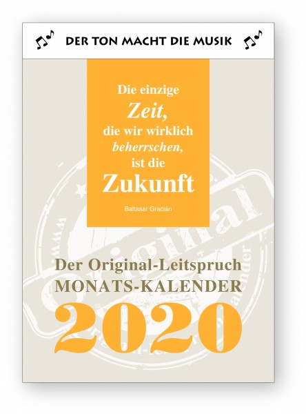Original-Leitspruch-Monats-Kalender 2020