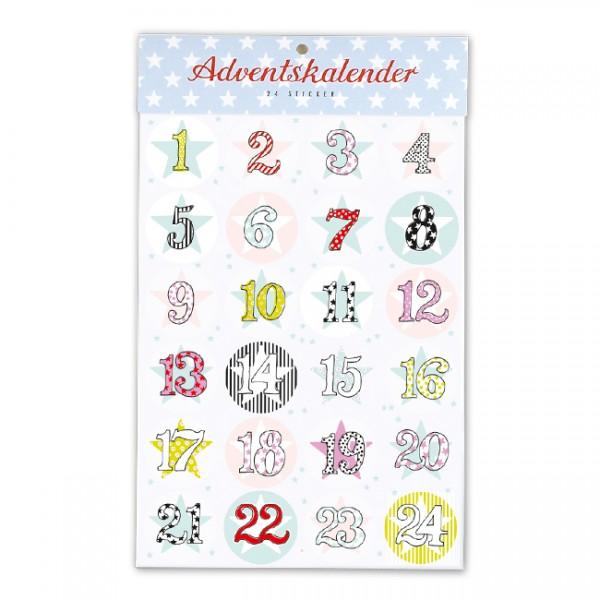 Sticker Adventskalender Sterne