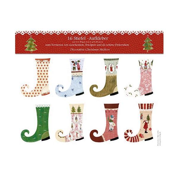 Weihnachtliche Stiefel Sticker