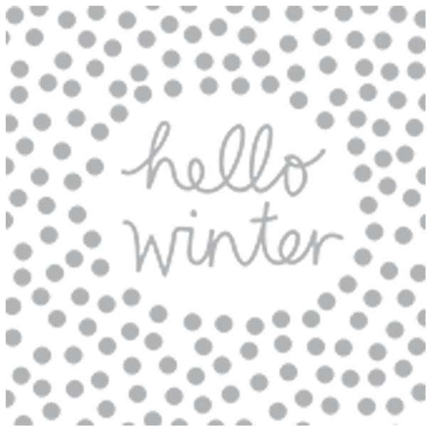 Winterzeit Servietten Hello Winter