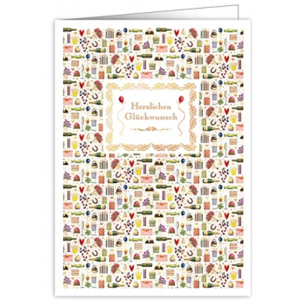 XL Karte Herzlichen Glückwunsch