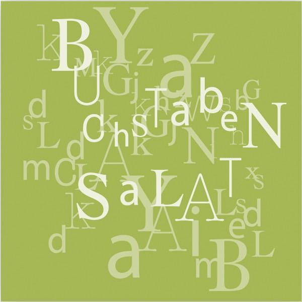 Servietten Buchstabensalat