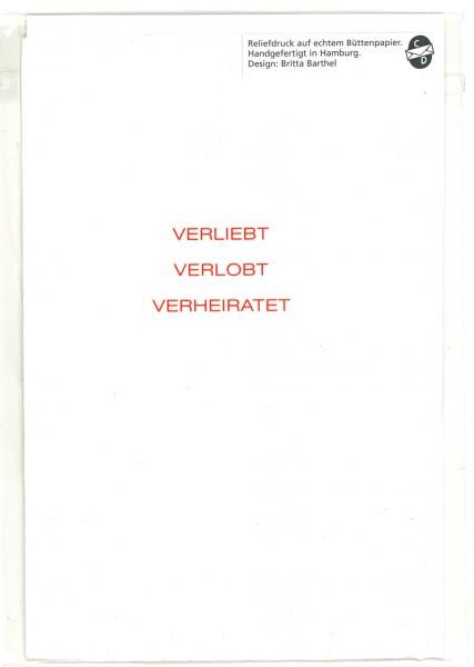 Karte VERLIEBT..