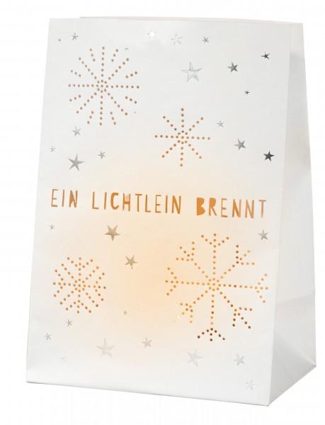 Weihnachtskarte Lichttüte