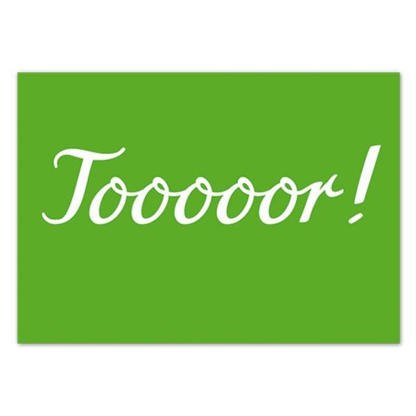 Postkarte Tooooor
