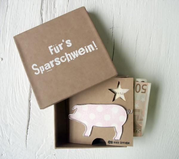 Geldgeschenkbox Fürs Sparschwein