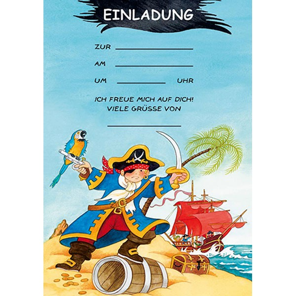 Einladungs Set Piraten