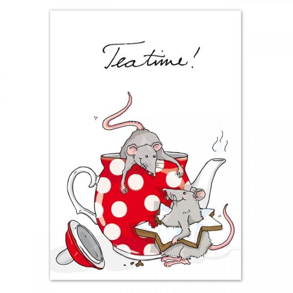 Postkarte Teatime