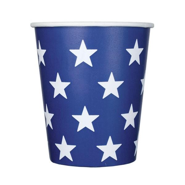 Pappbecher Sterne dunkelblau