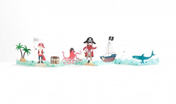 Kinder-Tischgirlande – Piraten