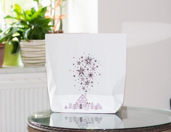 Papiertasche Winterhaus