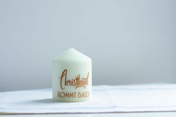 Kerze Christkind kommt bald