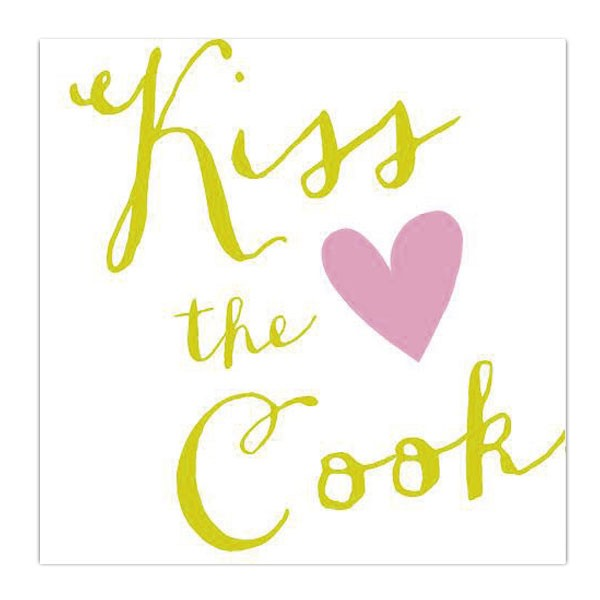 Serviette Kiss the cook