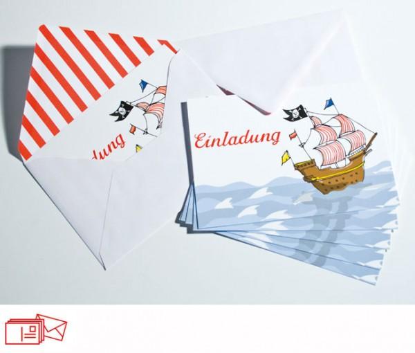 Einladungskarten Schiff