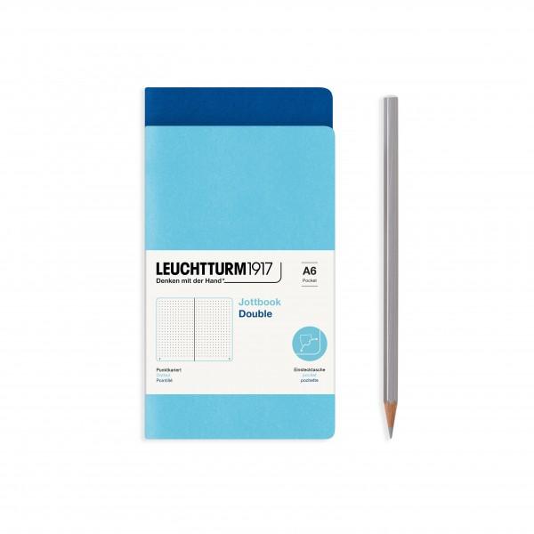Jottbook Double A6 Royal Blue / Ice Blue