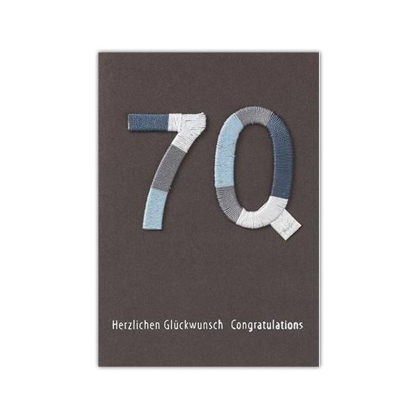 Jubiläums Variationskarte 70