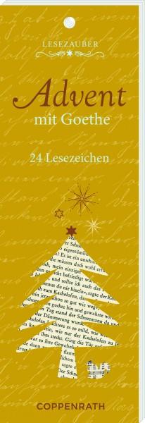 Lesezeichen Adventkalender mit Goethe