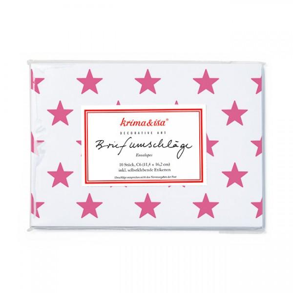 Briefumschlag Sterne pink