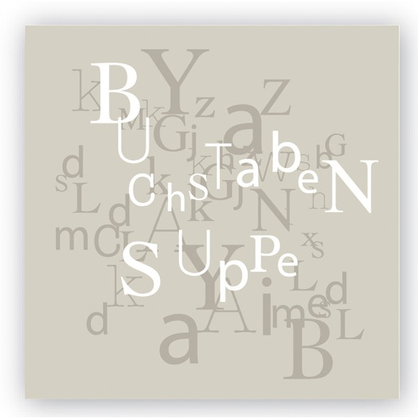Servietten Buchstabensuppe