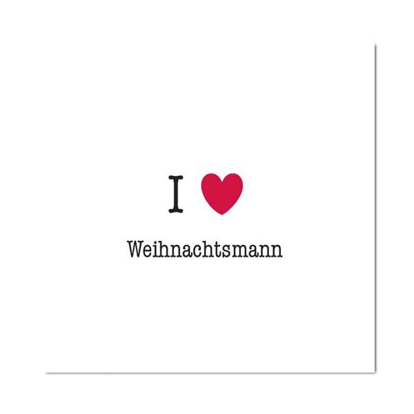 Winterzeit Servietten I love ...