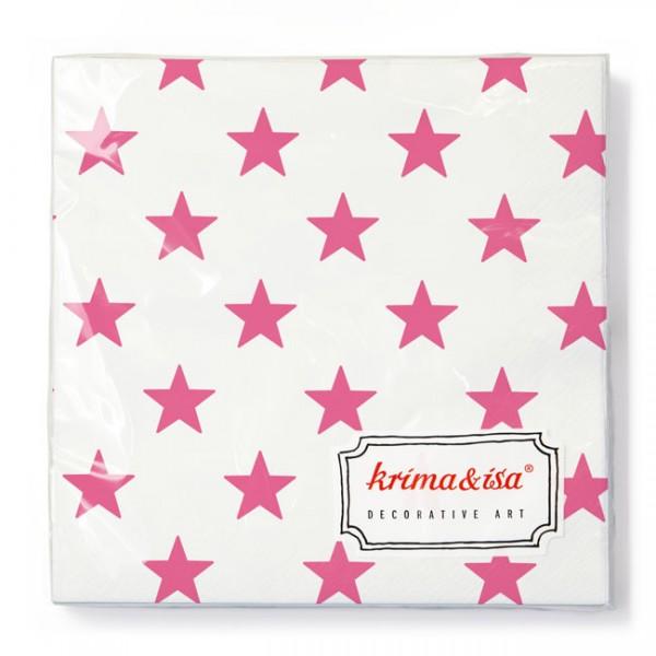 Serviette Sterne pink