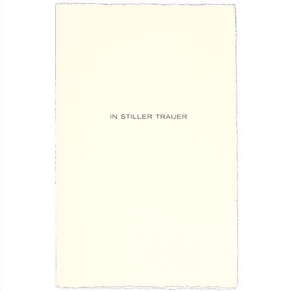 Karte IN STILLER TRAUER