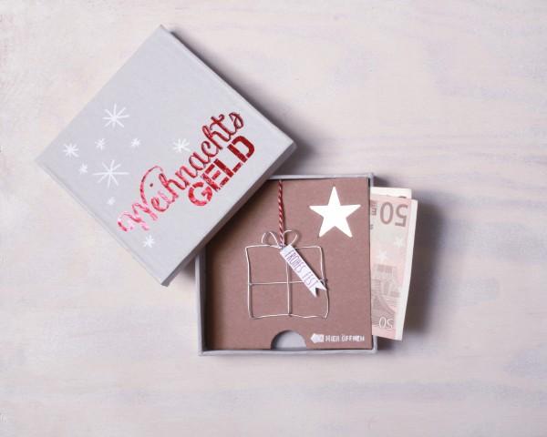 Winter Geldgeschenkbox Weihnachtsgeld
