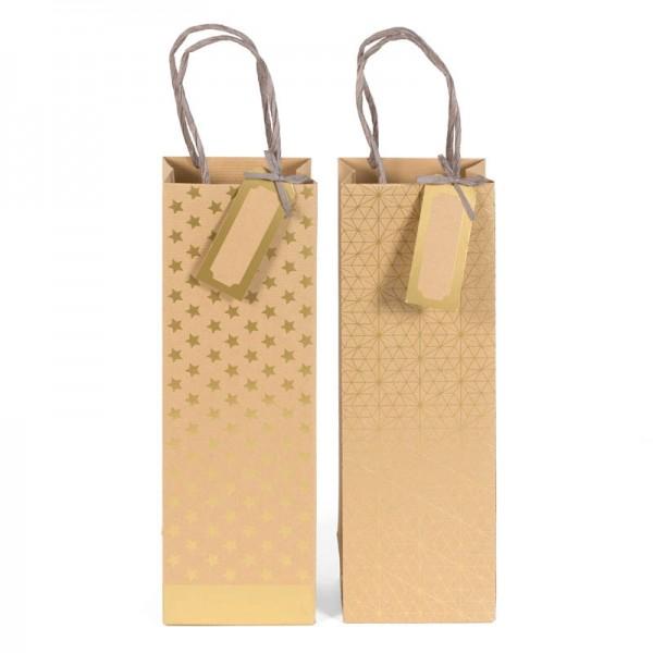 Papiertaschen Set für Flaschen