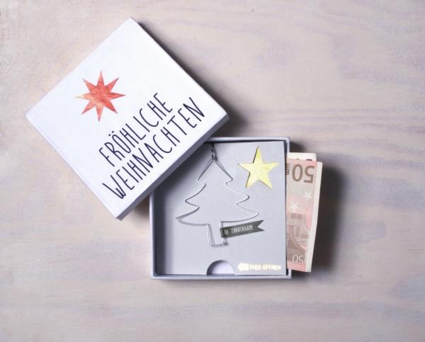 Winter Geldgeschenkbox Fröhliche Weihnachten