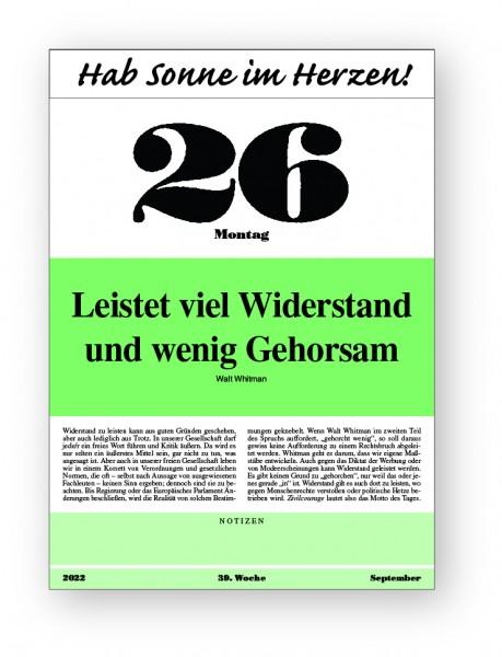 Original-Leitspruch-Auslese-Kalender 2022