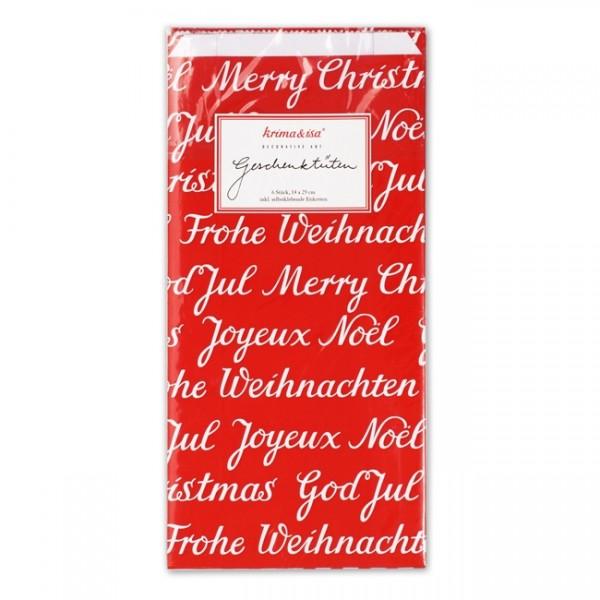 Tüten Weihnachten rot