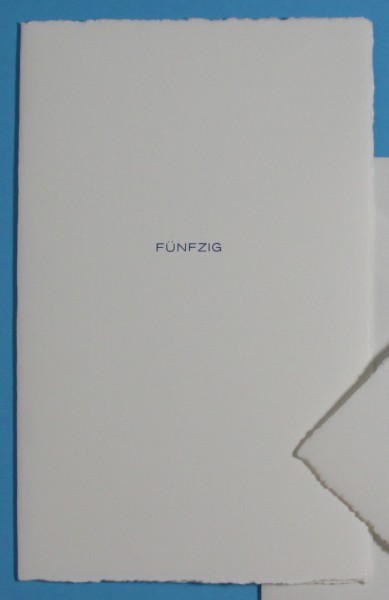 Karte FÜNFZIG 50