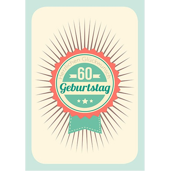 Geburtstagskarte 60