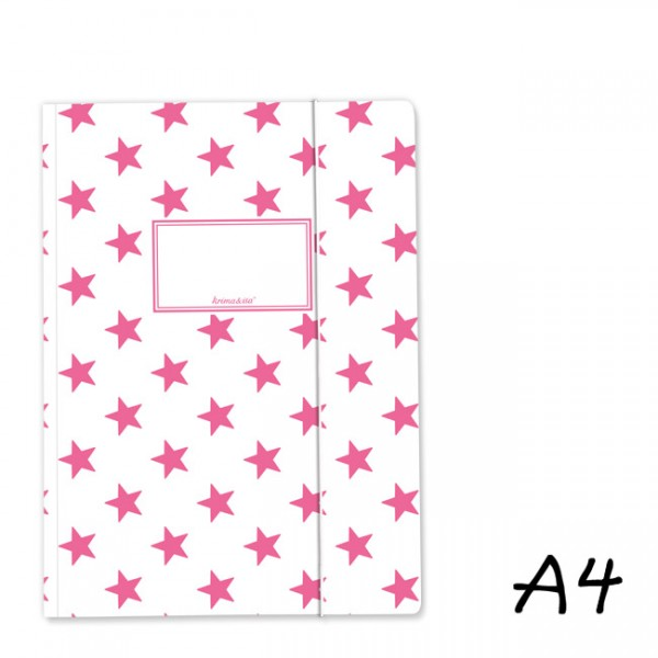Mappe A4 Sterne Pink