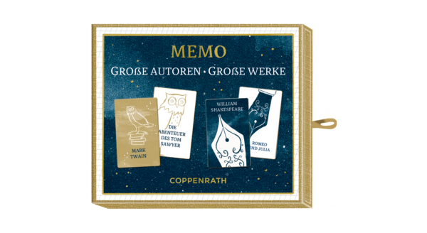 Memospiel Große Autoren - Große Werke