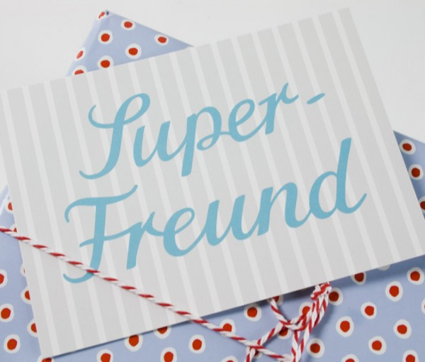 Postkarte Super Freund