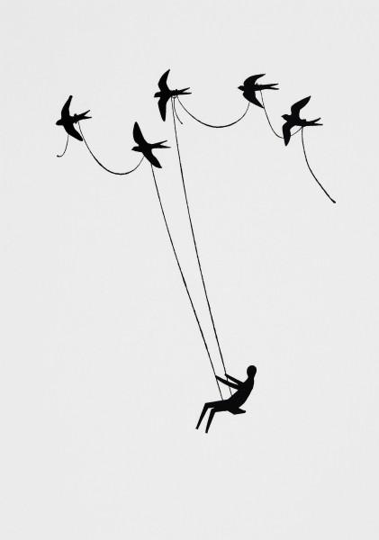 Wunderland Postkarte – Vögel