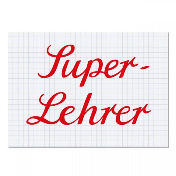 Postkarte Super Lehrer