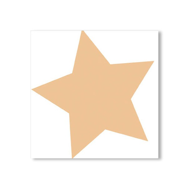 Serviette mini Stern weiß