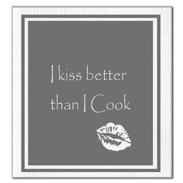 Spüllappen I kiss better than I cook